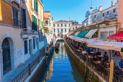 Typical canal in Venice, Italy Stock Image