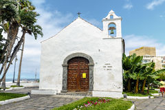 Typical canarian church ermita de San Telmo in Puerto de la Cruz, Tenerife, Canarias, Spain Royalty Free Stock Photo
