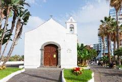 Typical canarian church in Puerto de la Cruz Royalty Free Stock Photos