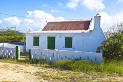 Typical caribbean house in Aruba Island Royalty Free Stock Images