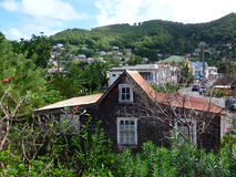 A typical caribbean house at port elizabeth, bequia Royalty Free Stock Photo