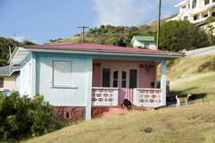 Typical caribbean style house bequia Royalty Free Stock Image