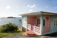 Typical caribbean style house bequia royalty free stock photo
