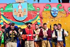 Typical carnival chorus (chirigota) in El Puerto de Santa Maria. Royalty Free Stock Photos