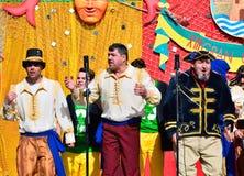 Typical carnival chorus (chirigota) in El Puerto de Santa Maria. Royalty Free Stock Image