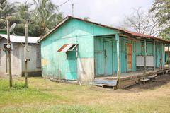 Typical carribean house Stock Images