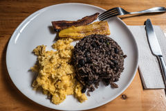 Typical casado food from Costa Rica Royalty Free Stock Photography