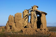 Typical Castilian loft in ruins royalty free stock photos