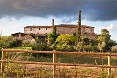 Typical Catalan farmhouse Stock Photos
