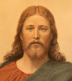 Typical catholic image of Jesus Christ printed in Berlin from end of 19. cent. designed by A. Ebert. Stock Images