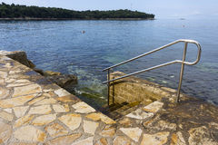 Typical cemented beach in Istria Stock Image