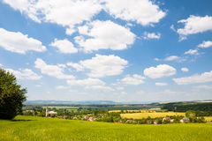 Typical central european rural countryside Royalty Free Stock Photos