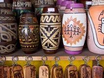 Typical ceramic vase. Typical of ceramic vase with Indian motifs Marajoara - Marajo island - Belem - Brazil stock images