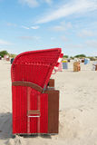 Typical chairs on island Borkum Stock Photos