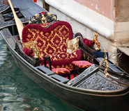 Typical chairs luxury in a gondola in Venice Royalty Free Stock Images
