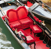 Typical chairs luxury in a gondola in Venice Royalty Free Stock Photo