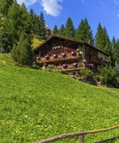 Typical chalet in Zermatt, Switzerland stock images