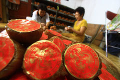 Typical Chinese artisans Basket Cake Royalty Free Stock Photography