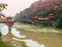 Typical chinese bridge near Leshan Stock Images