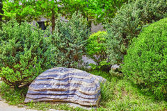 Typical Chinese garden,  park with bizarre rocks. Beijing. Typical Chinese garden,  park with bizarre rocks. Beijing, China Stock Images