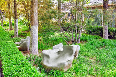 Typical Chinese garden,  park with bizarre rocks. Beijing. Typical Chinese garden,  park with bizarre rocks. Beijing, China Stock Photo