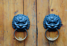 Typical Chinese old door Royalty Free Stock Photography
