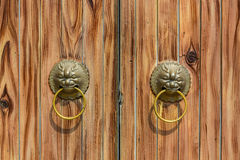 Typical Chinese old door. Stock Photo