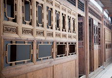 Typical Chinese old style wooden house Stock Photos