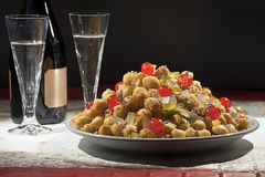 Typical Christmas cake. Naples Struffoli, typical Christmas cake Stock Photos
