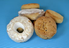 Typical Christmas wine donuts and cookies Royalty Free Stock Photography