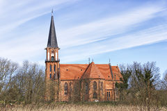 Typical church Baltic Sea Stock Photo