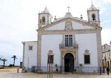 Typical church in Faro, Algarve, Portugal Stock Images