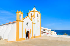 Typical church in Luz town Royalty Free Stock Images