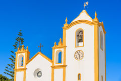 Typical church in Luz town Royalty Free Stock Photo
