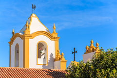 Typical church in Luz town Royalty Free Stock Image