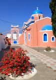 Typical church, Oia, Santorini, Greece Stock Photos