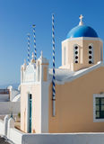 Typical church in Oia village on Santorini island, Greece Royalty Free Stock Images