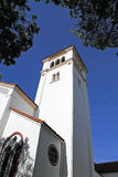 Typical church in Santa Barbara Royalty Free Stock Image