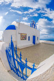 Typical church on Santorini island in Greece Stock Images