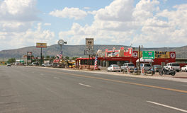 Typical city along Route 66 in Arizona, USA. Stock Photography