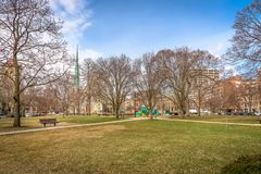 Typical City Park in the Midwest of the United States. Shot in 2018 Royalty Free Stock Images