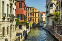 Typical city street at VENICE, ITALY Royalty Free Stock Image