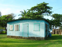 Typical clapboard house corn island nicaragua Royalty Free Stock Photos