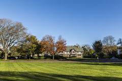 Typical classical old house in the Hamptons. In Indian Summer royalty free stock photos
