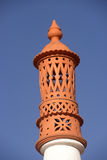 Typical Clay Chimney - Details Architecture - Outdoor. Typical clay chimney from Algarve, beautiful touristic region of southern Portugal Stock Photo