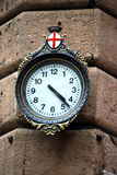 Typical clock genoa Royalty Free Stock Images