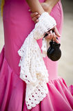 Typical clothes. Detail of a woman dressed with the typical clothes of the south of Spain Royalty Free Stock Images
