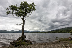 Typical cloudy landscape of Scotland stock photo