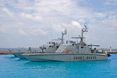 Typical Coast Guard Vessel Cutter Ship. Of a country Armed Forces for maritime law enforcement mission Stock Photos
