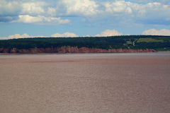 Typical coast line of Bay of Fundy, NB Royalty Free Stock Images